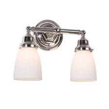 Ballantrae™ Two Light Straight Arm Sconce with 2-1/4 in. shade holders