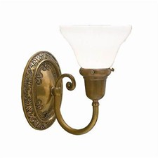Cotswold Manor™ One Light Curved Arm Sconce with 2-1/4 in. shade holder