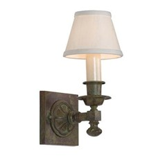 Morris™ One Light Straight Arm Sconce with electric candle