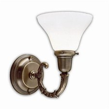 Carlton™ One Light Curved Arm Sconce with 2-1/4 in. shade holder