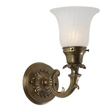 Saint Tropez™ One Light Curved Arm Sconce with 2-1/4 in. shade holder