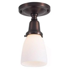 Retro™ One Light Flush Ceiling Fixture with 2-1/4 in. shade holder