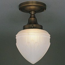 Retro™ One Light Flush Ceiling Fixture with 3-1/4 in. shade holder