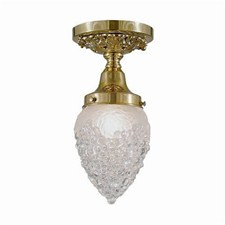 Provence™ One Light Flush Ceiling Fixture with 3-1/4 in. shade holder