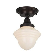 Carlton™ One Light Flush Ceiling Fixture with 3-1/4 in. shade holder