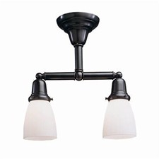 Shoreland™ Two Light Flush Ceiling Fixture with 2-1/4 in. shade holders