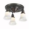 Galena Three Light Flush Ceiling Fixture with 2-1/4 in. shade holders