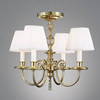 Provence™ Four Light Chain Hung Petite Chandelier with electric candles