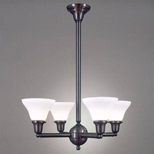 Shoreland™ Four Light Chandelier with 2-1/4 in. shade holders up