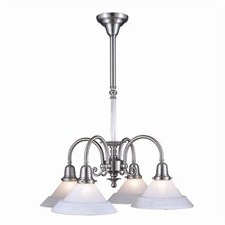 Provence™ Four Light Chandelier with 2-1/4 in. shade holders down