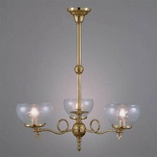 Victorian™ Three Light Gas Key Chandelier with 4-1/4 in. shade holders