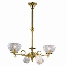 Victorian™ Four Light Gas-Electric Chandelier with 2-1/4 in. & 4-1/4 in. shade holders