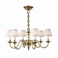 Carlton™ Six Light Chandelier with electric candles