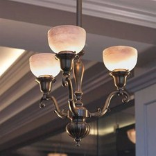 Canterbury™ Three Light Curved Arm Chandelier with 2-1/4 in. shade holders