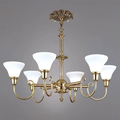 Provence™ Six Light Chandelier with 2-1/4 in. shade holders up
