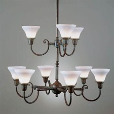 Shoreland™ Nine Light Two Tier Chandelier with 2-1/4 in. shade holders