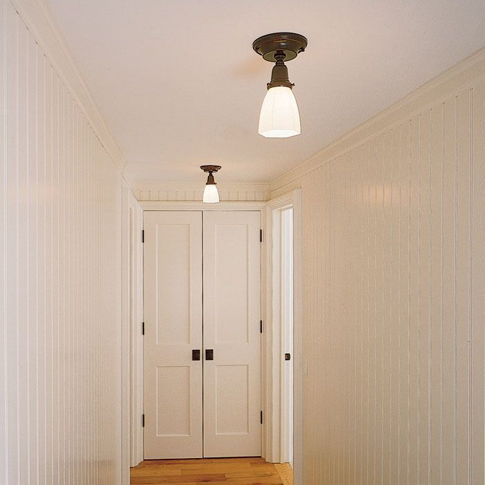Carlton™ One Light Flush Ceiling Fixture With 2 1/4 In. Shade