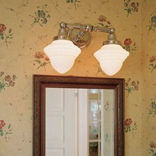 Carlton™ Two Light Straight Arm Sconce with 3-1/4 in. shade holders