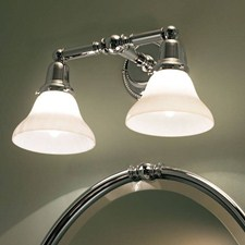Carlton™ Two Light Straight Arm Sconce with 2-1/4 in. shade holders
