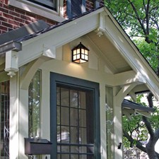 Cottage™ Lantern 6 in. Wide Flush Exterior Wall Light