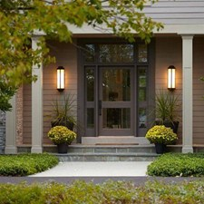 Montara Lantern™ 6 in. Wide Flush Exterior Wall Light Tall