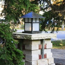 Pine Lake Lantern™ 20 in. Wide Exterior Pier Light