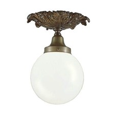Newberry™ Exterior One Light Semi Flush Ceiling Fixture with 3-1/4 in. shade holder