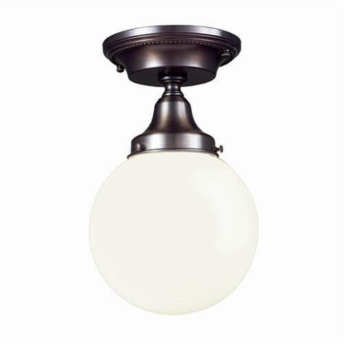 One Light Semi Flush Ceiling Fixture with 3-1/4\