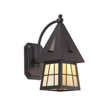 European Country Lantern™ 6 in. Wide Curved Arm Exterior Wall Light