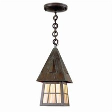 European Country Lantern™ 6 in. Wide Chain Hung Exterior Pendant Light