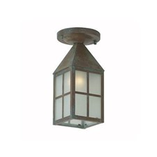 Carriage Lantern™ 4 in. Wide Semi Flush Exterior Ceiling Light