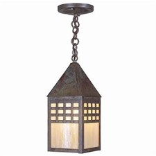 Carriage Lantern™ 7 in. Wide Chain Hung Exterior Pendant Light