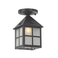 Cottage Lantern™ 6 in. Wide Semi Flush Exterior Ceiling Light