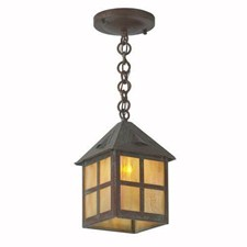 Cottage Lantern™ 6 in. Wide Chain Hung Exterior Pendant Light