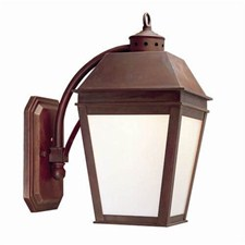 Provincial Lantern™ 9 in. Wide Curved Arm Exterior Wall Light