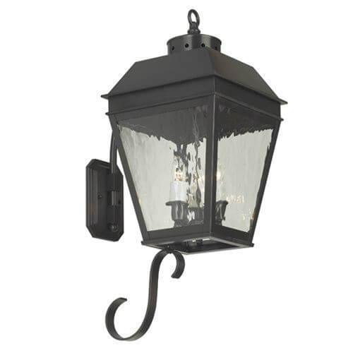 Provincial Lantern™ 11 in. Wide Curved Arm Exterior Wall Light