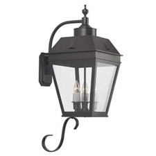 Georgian Lantern™ 11 in. Wide Curved Arm Exterior Wall Light