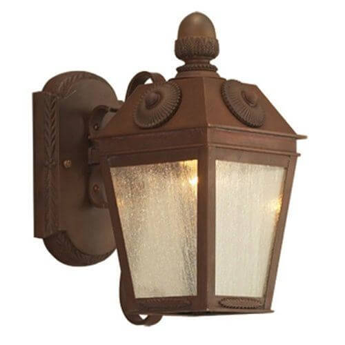 French Country Lantern™ 6 in. Wide Scrolled Arm Exterior Wall Light