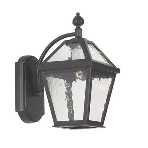 London Lantern™ 7 in. Wide Curved Arm Exterior Wall Light