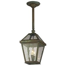 London Lantern™ 10 in. Wide Solid Stem Exterior Pendant Light - custom mounting plate