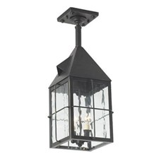 Lancaster Lantern™ 6 in. Wide Solid Stem Exterior Pendant Light