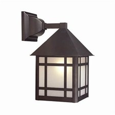 Bungalow Lantern™ 8 in. Wide Straight Arm Exterior Wall Light
