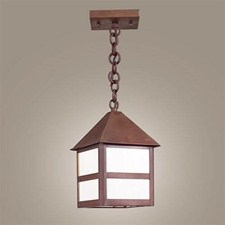 Bungalow Lantern™ 8 in. Wide Chain Hung Exterior Pendant Light