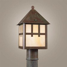 Bungalow Lantern™ 8 in. Wide Exterior Post Light