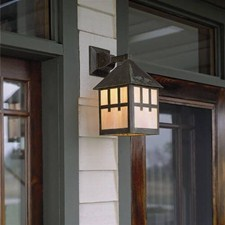 Bungalow Lantern™ 10 in. Wide Straight Arm Exterior Wall Light