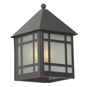 Bungalow Lantern™ 10 in. Wide Flush Exterior Wall Light