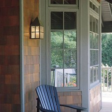 Carriage™ Lantern 7 in. Wide Flush Exterior Wall Light
