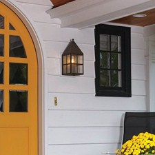 Carriage™ Lantern 8 in. Wide Flush Exterior Wall Light