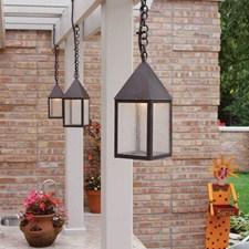Carriage™ Lantern 6 in. Wide Chain Hung Exterior Pendant Light