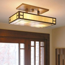 Edgewood™ Lantern 24 in. Wide Semi Flush Ceiling Fixture